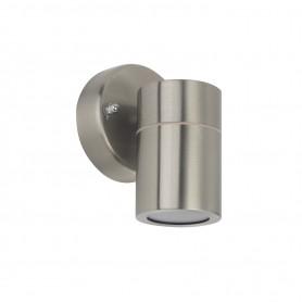 Applique da esterno Cilindrica Monodirezionale GU10 Silver