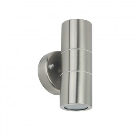 Applique da esterno Cilindrica Bidirezionale GU10 Silver