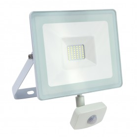 Faro Slim White 10W IP44 con Sensore di Movimento