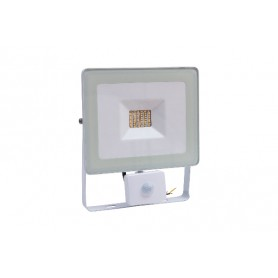 Faro Slim White 30W IP44 con Sensore di Movimento