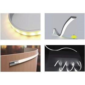 Profilo FLESSIBILE da 1 e 2m in alluminio per strisce LED