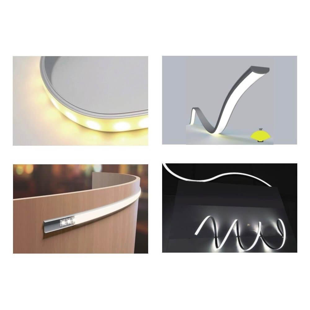 Strisce Led Per Cartongesso profilo flessibile da 1 e 2m in alluminio per strisce led