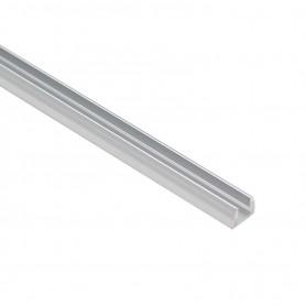Profilo per vetro e policarbonato da 1m in Alluminio per striscia LED