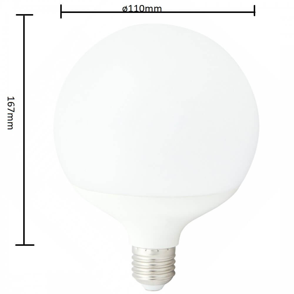 Lampadina led 16w e27 globo essential for Lampadina e27 led