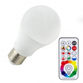 Lampada Led Con Telecomando.Lampadina 5w Rgbw Con Telecomando