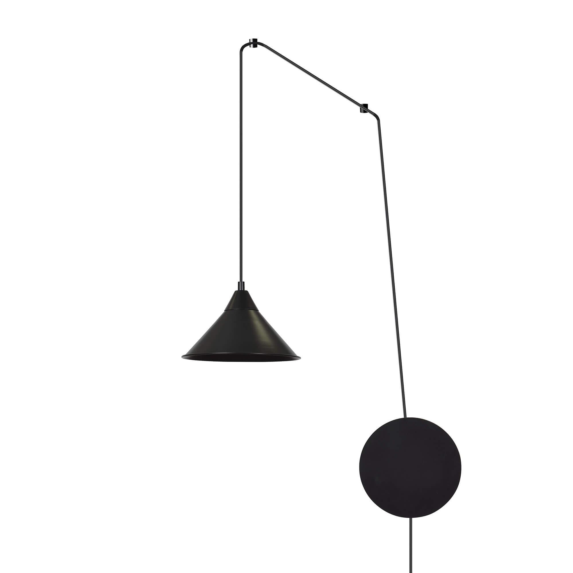 Lampade Attaccate Al Soffitto piantana a sospensione abramo 1 black