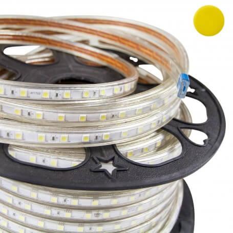 Striscia LED Giallo 5050 220V Professional