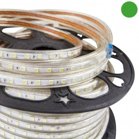 Striscia LED Verde 5050 220V Professional