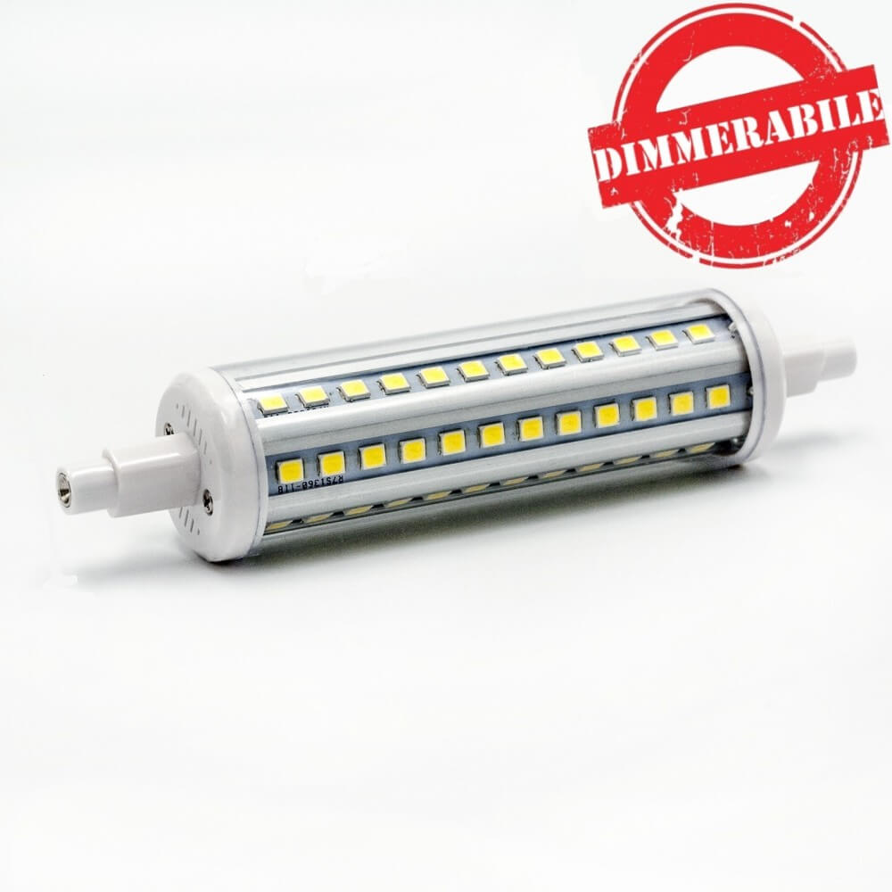 lampada led 12w r7s 118mm dimmerabile