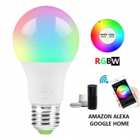 Lampada LED E27 11W smart RGB+CCT WiFi - Amazon Echo e Google Home