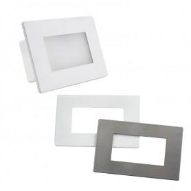 Segnapasso LED con SENSORE per scatola 503 da 3,5W - doppio frontalino