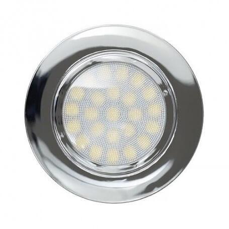Faro da incasso LED 220V 4W, IP44, dim ø70*20mm, foro ø56mm - Cromato