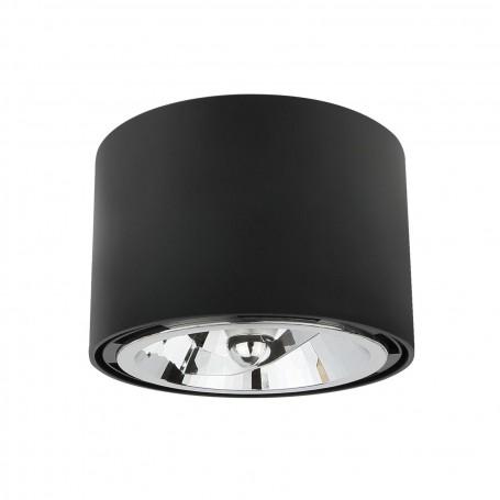 Applique da soffitto con portalampada GU10 per AR111/ES111 - Bianco - Nero - Cromato