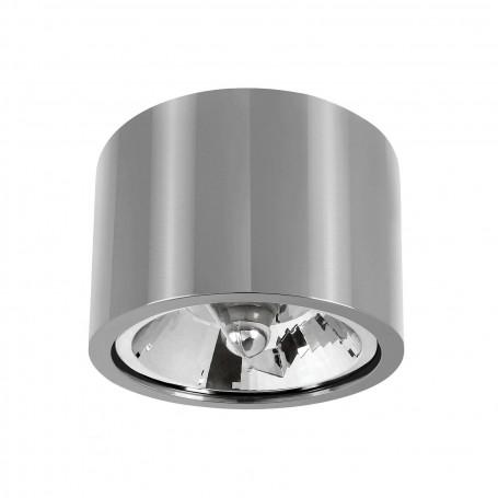 Applique da soffitto con portalampada GU10 per AR111/ES111 - Nero