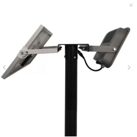 Supporto testa palo per 2 proiettori o proiettori con pannello solare