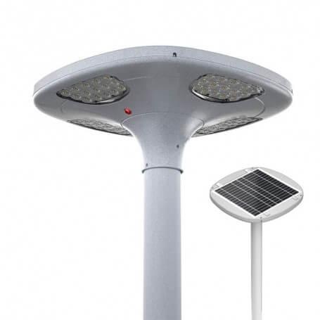 Lampione stradale Solare 100W, IP65, B. Caldo