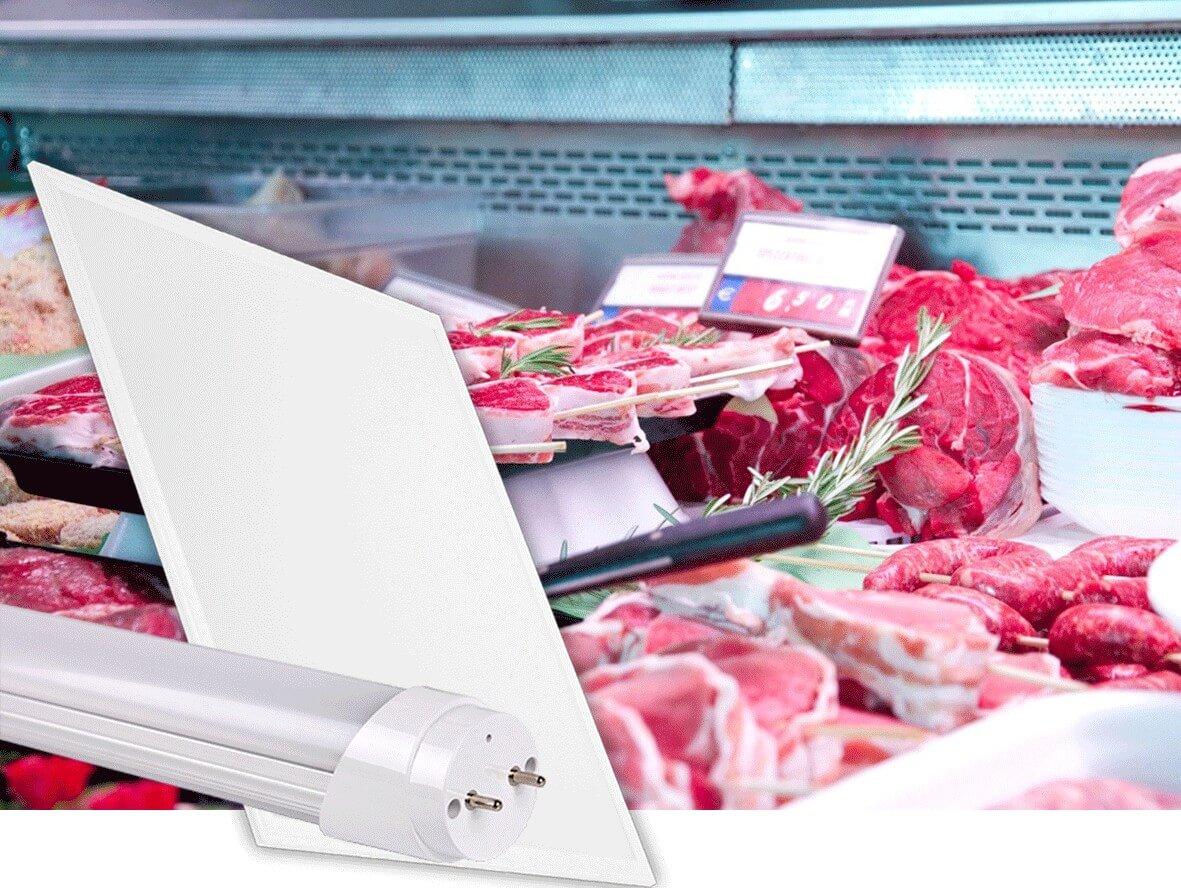 Illuminazione LED banco Alimentari